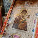 """Icoana Maicii Domnului """"Ocrotitoare nebiruită"""" de la Mănăstirea Cutlumuş din Sfantul Munte Athos"""